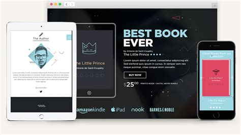 html5 templates for books e book html5 book landing page html5 website templates