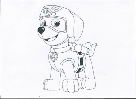coloring page zuma paw patrol zuma by pawpatrolfan66 on deviantart