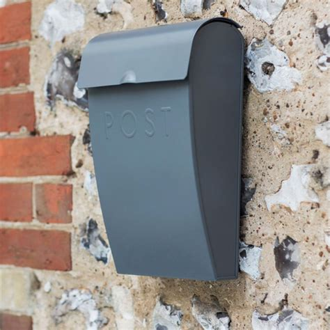 Post Box For Front Door Post Box With Lockable Lid Charcoal