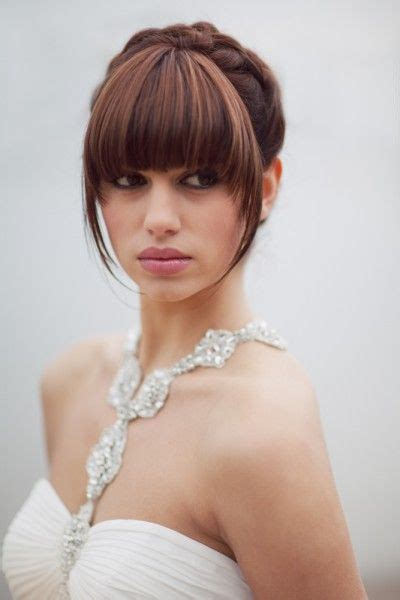 bridal hairstyles with a fringe 35 best wedding hair with a fringe images on pinterest