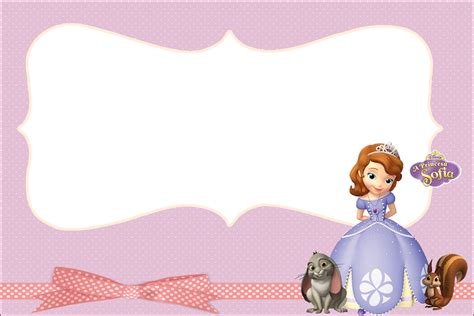 princess sofia the first party invitations free