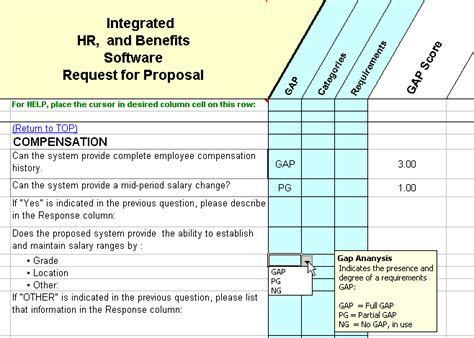 fit gap analysis template xls rfp suporting tools and documentation included images