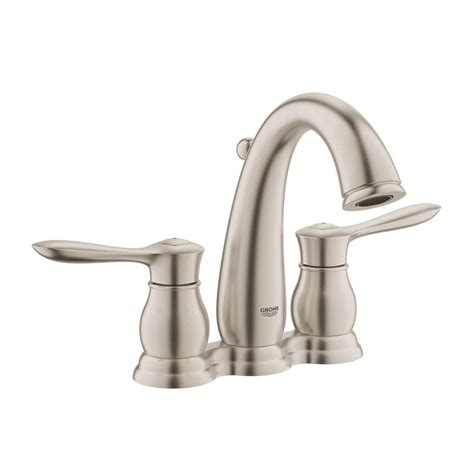 grohe parkfield bathroom faucet grohe parkfield 4 in centerset 2 handle 1 2 gpm bathroom