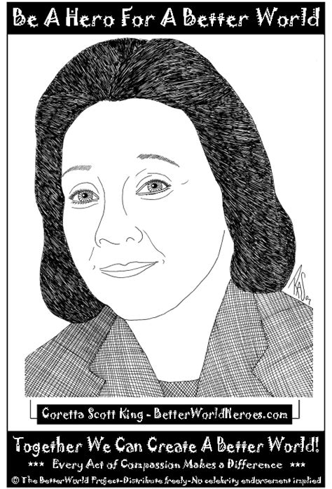 Coloring Pages Of Coretta Scott King | free coloring pages of coretta scott king