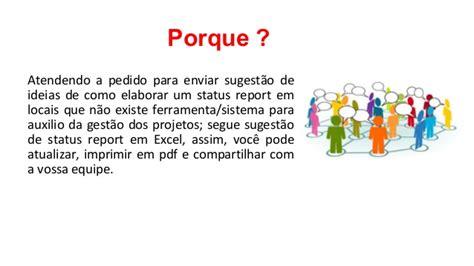Um Mba Application Status by Status Report Sugest 227 O Ideia E Sugest 227 O