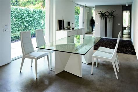 ultra modern dining table white ultra modern dining table w two pedestal legs