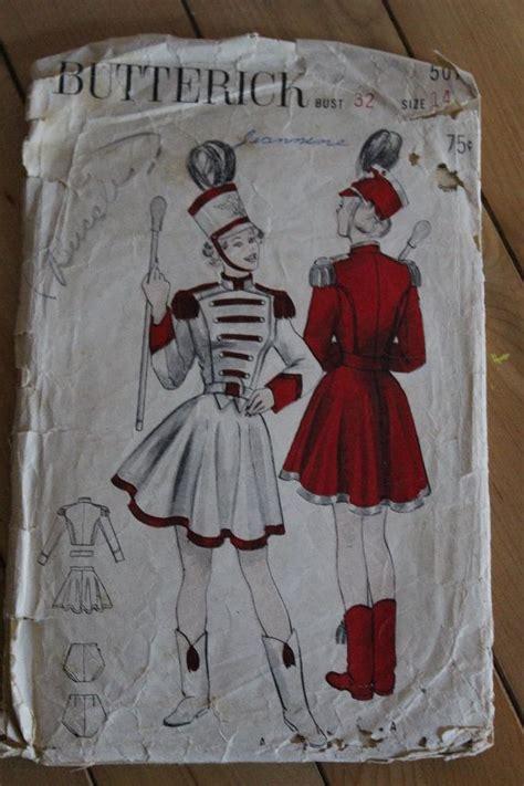 vintage majorette pattern 1950s butterick vintage pattern misses majorette costume