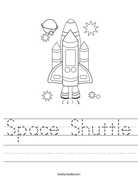 space printable activity sheets space shuttle worksheet twisty noodle