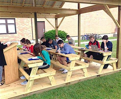 outdoor classroom completed the belfast beacon