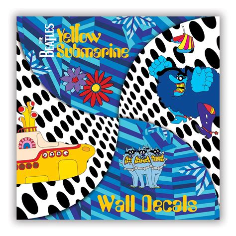 beatles wall stickers beatles wall decals yellow submarine wall decals beatles
