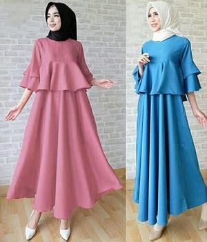 New Maxi Aidah Baju Muslim Wanita Kekinian Gamis Modern baju gamis remaja gambar seller baju gamis remaja polos jual gambar di