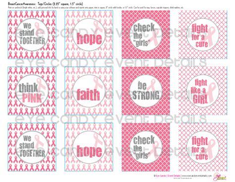 printable ribbon tags eye candy creative studio freebie breast cancer