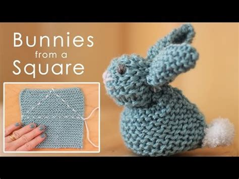 easy things to knit for beginners how to knit a bunny from a square easy for beginning