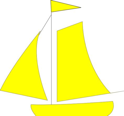 cartoon yellow boat yellow sail boat clip art at clker vector clip art