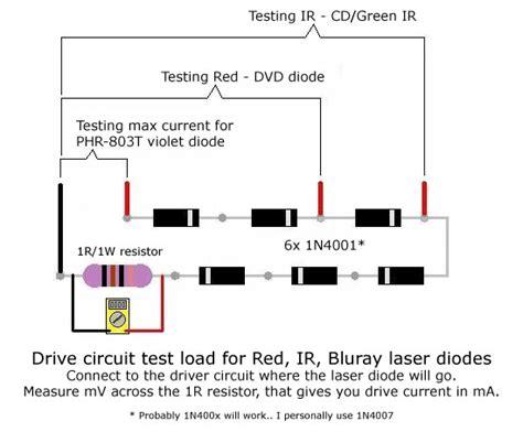testing laser diodes laserad86 laser diode test load r v lasers