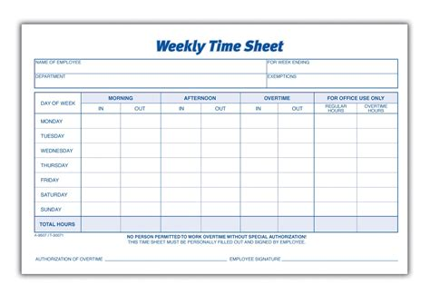 weekly timesheet templates weekly employee timesheet template