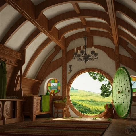 hobbit house interior favorite places spaces