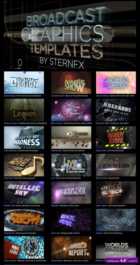 Broadcast Graphics Templates broadcast graphics templates vol 1 after effects