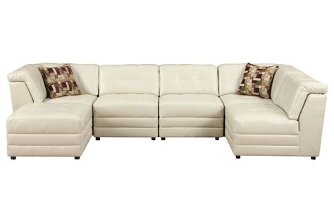 gardner white sectionals calisto 7 piece bonded leather sectional