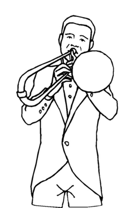 free coloring pages of a trombone