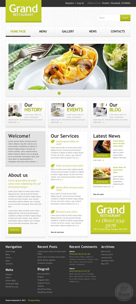 grand restaurant 2 review a wordpress restaurant theme by