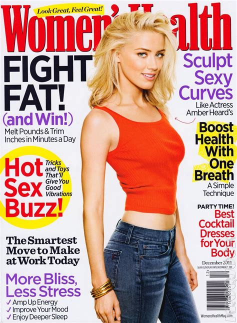 women magazine amber heard for women s health us december 2011 art8amby