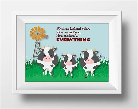 Farm Nursery Decor Farm Nursery Decor Cow Now We Everything By Babygabstudio