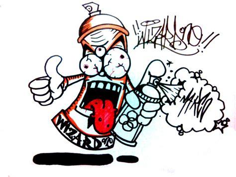 Graffiti Spray Can Drawing