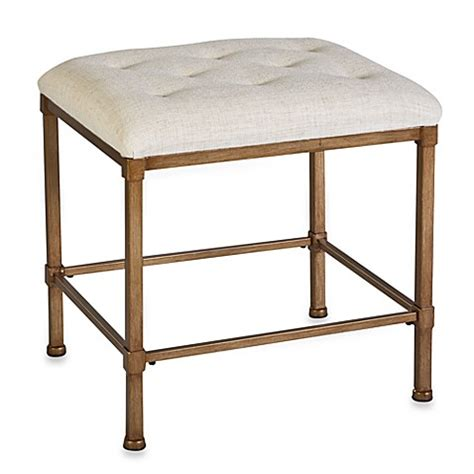 Buy Hillsdale Hton Kidney Shape Vanity Stool From Bed Bathroom Vanity Seat