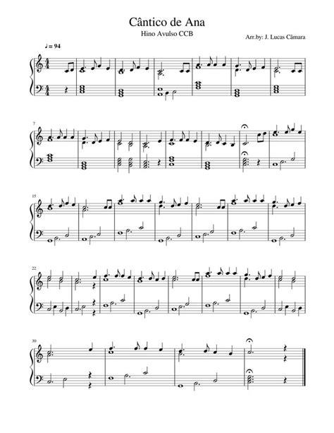 Print and download in PDF or MIDI Cântico de Ana. Hino
