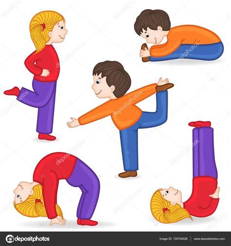 imagenes niños haciendo ejercicio conjunto de aislados ni 241 os haciendo ejercicios de yoga