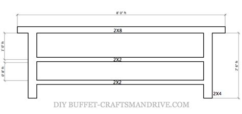 buffet table dimensions diy buffet table craftsman drive