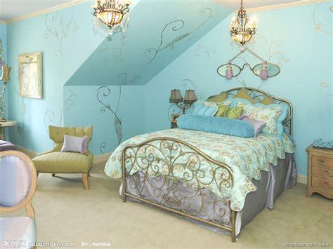 bedroom brown and blue bedroom interior design girls 室内设计效果图摄影图 室内摄影 建筑园林 摄影图库 昵图网nipic com