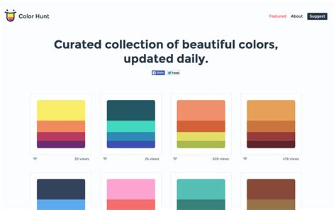 website color palette generator meilleurs g 233 n 233 rateurs de palette de couleur codes