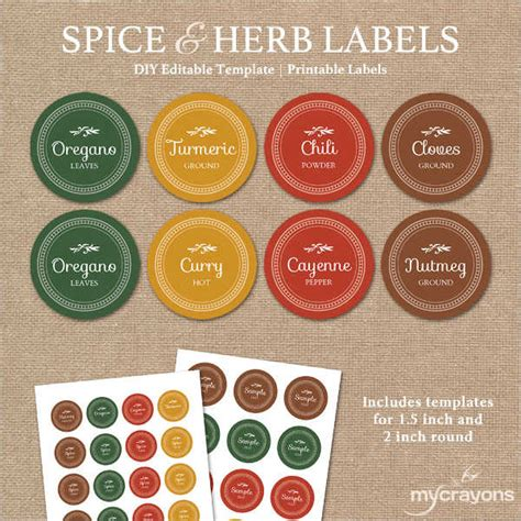 printable spice labels 7 spice jar label templates free printable psd word
