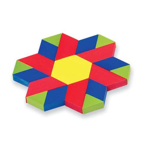Pattern Block by Plastic Pattern Blocks Classroom Kit Set Of 1 250 Eta