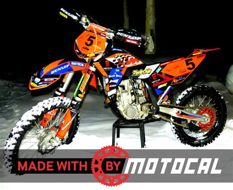 Ktm Exc Graphics Custom Ktm Decal Design Motocal Motor Racing Decals