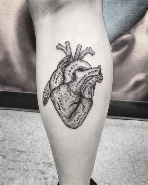 small heart tattoos tumblr best 25 anatomical tattoos ideas on