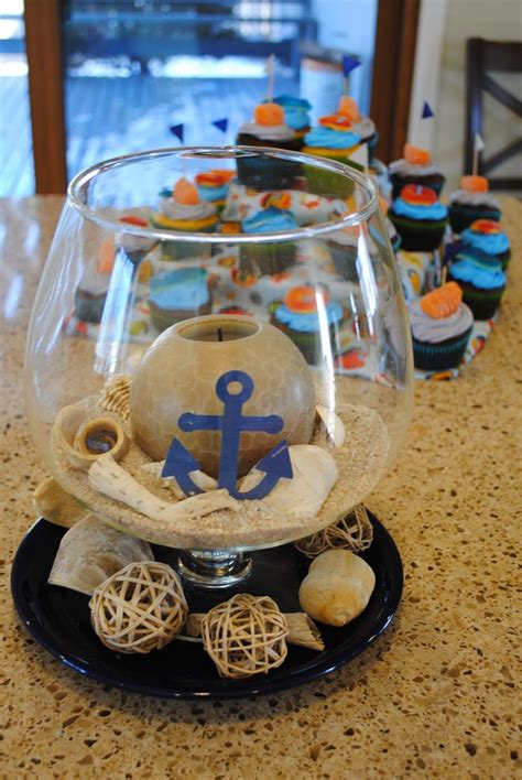 Sailor Themed Baby Shower Centerpieces by Nautical Ahoy It S A Boy Baby Shower Perfection