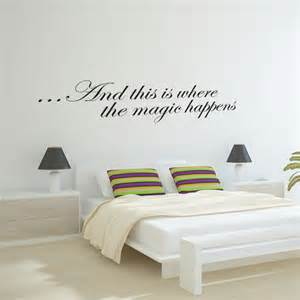 Stickers On Wall For Bedroom this is where the magic happens wall sticker wall stickers decals