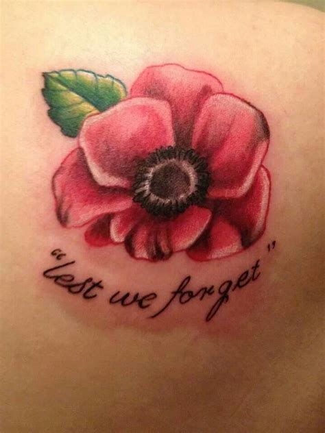 poppy tattoo designs foot lest we forget lest we forget