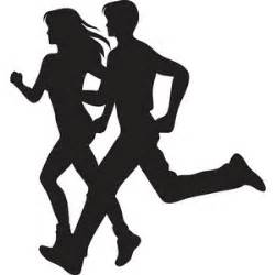jogging clipart image couple running silhouette polyvore