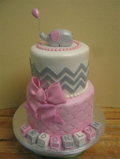 pink elephant baby shower cake discover and save creative ideas