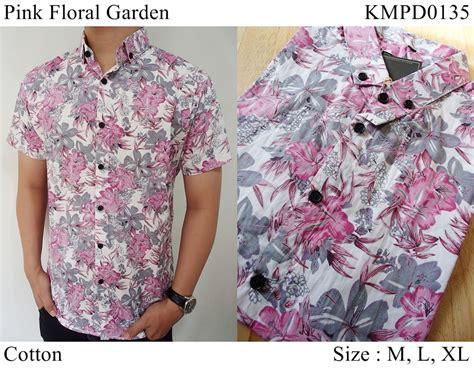 Kemeja Floral jual baju kemeja fashion pria distro floral bunga pink