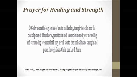 wellness prayers comfort healing prayer for healing and strength youtube
