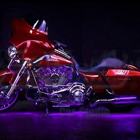 purple led light strips for motorcycles 2pcs purple 12 led diy motorcycle bike ground
