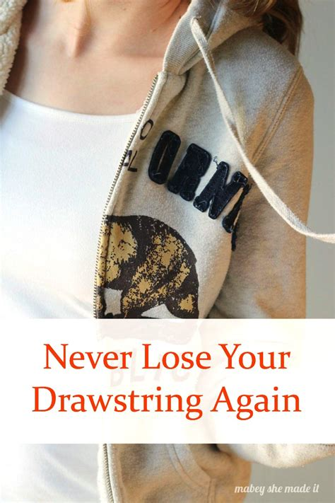 never lose a scrabble again how to fix your drawstring so you never lose it again