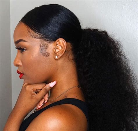 black hair style barrel curl ponytails best 25 weave ponytail ideas on pinterest long ponytail