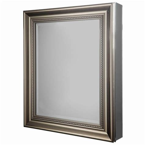 mirrorless surface mount medicine cabinet glacier bay 24 in w x 30 in h framed recessed or surface