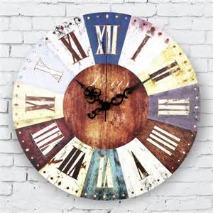 wholesale vintage home decor suppliers aliexpress com buy wholesale vintage home decor large wall clock roman numerals frozen living